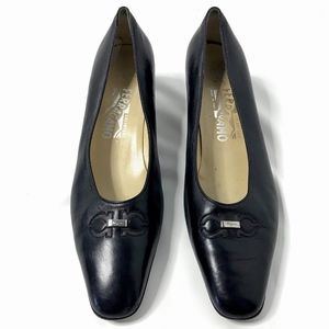 Salvatore Ferragamo Pumps Kitten Heels Black